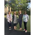 Left to right: Mrs Clarke (H1), Mrs Hunter (N1), Mrs Owen (G1), Miss Mitto (G1)