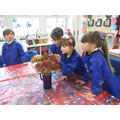 We did some impressionist art inspired by Monet.