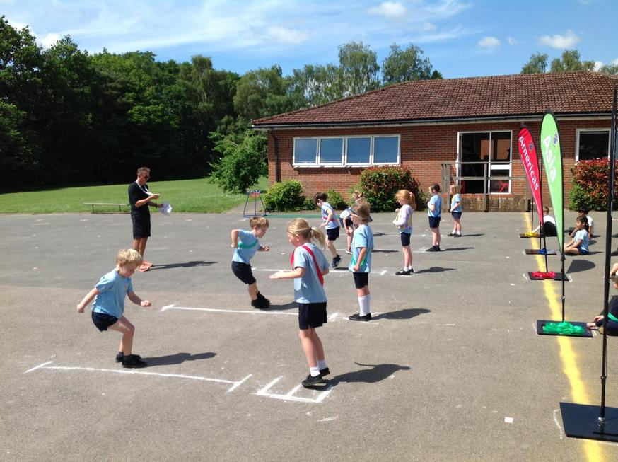 The pupils did as many speed bounces as they could in 20 seconds!