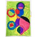 Yr5 artwork inspired by Sonia Delaunay