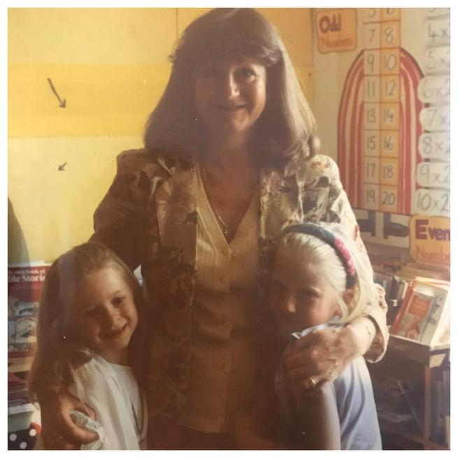 Miss Silcott, the same age as you are now with her favourite teacher Mrs Plunkett