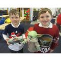 Christmas jumper parade! Yoda style...