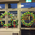 Our class advent wreaths and number
