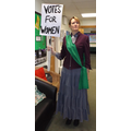 Mrs Muccio as a Suffragette