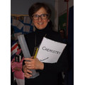 Mrs Zdarzil as Marie Curie