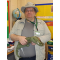 Mr Palmer as Steve Irwin the Crocodile Hunter
