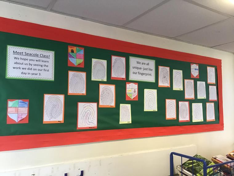 Seacole wrote or drew about themselves and then chose their favourite to go on the wall
