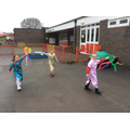 Chinese New Year - we made dragon kites.