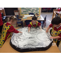Writing and drawing in shaving foam