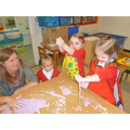 Experimenting with 'gloop' (cornflour & water)