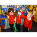 Re-enacting Jack and the Beanstalk