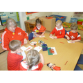 Making Welsh flags