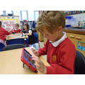 Playing games on the ipad - ICT skills