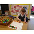 Making repeat patterns with Numicon