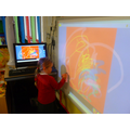 Drawing on the interactive whiteboard