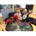 Rainbow shakers (counting & fine motor skills)