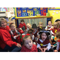 Singing songs in Welsh.