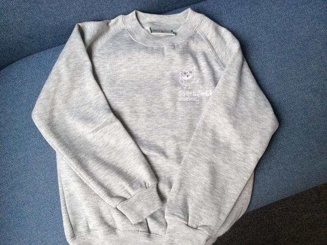 Light grey school sweatshirt-£9