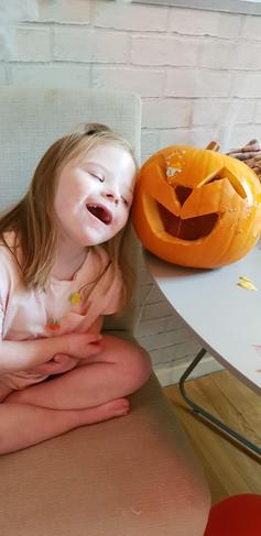 Lily May and her pumpkin