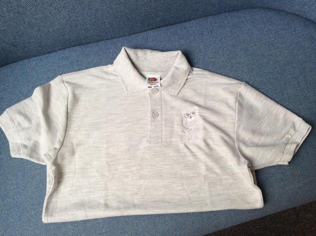 Light grey school Polo Shirt - £8