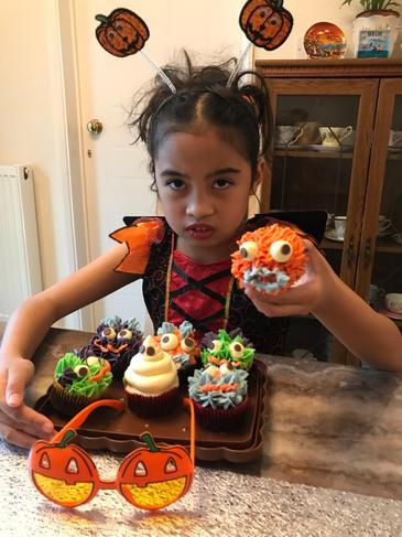 Spooky cakes and fancy dress