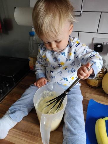 Thomas is making Pancakes