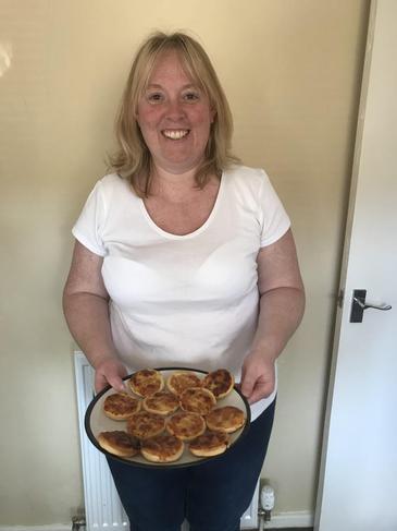 Sarah made mini pizza's