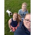 Lauren's family walk