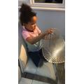 Milarna practised her threading