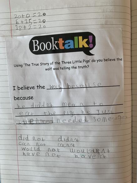Excellent book talk