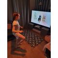 Layla-Grace taking part in Joe Wickes' PE lesson