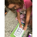 Sophie matched the initial sounds to cvc words