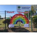 Our welcome rainbow made by the children
