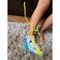 Ariyah's amazing foot puppet