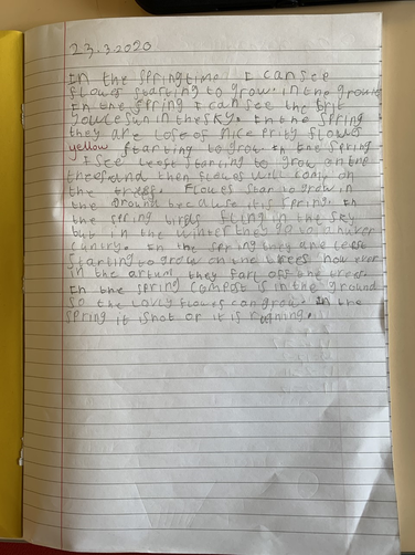 Fabulous writing about Spring