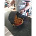 Lauren's cooking