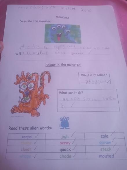 Wonderful topic work based on Monsters