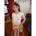 Eden's rainbow outfit