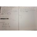 Alicia's maths work