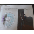 Callum's viking shield and Joe Wicks workout