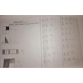 Alicia's fractions work