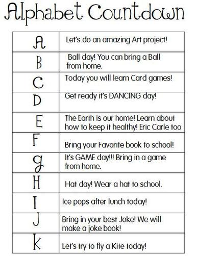 Countdown to summer with these activities.