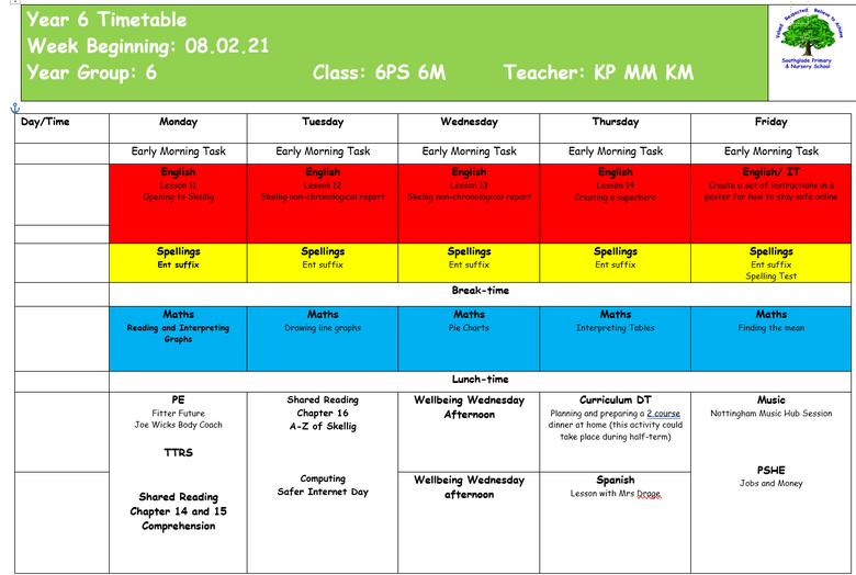 Weekly Plan 8.2.21