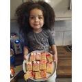 Sarah made her own Monster crispie bars