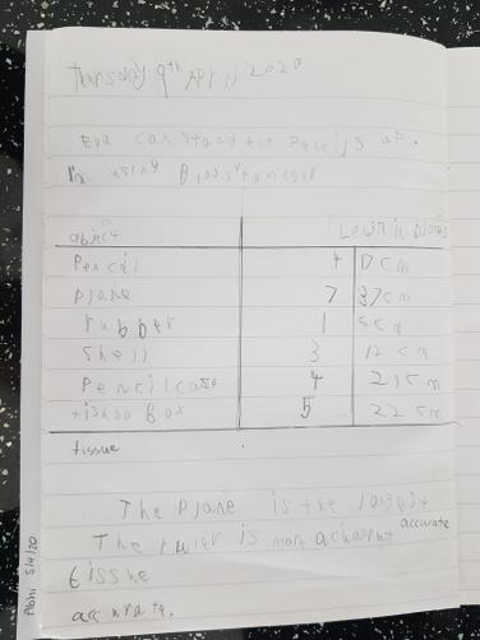 Great length maths work