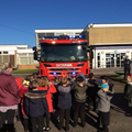 When the firemen came to school.