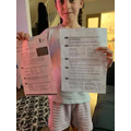 Layla-Grace's reading comprehension