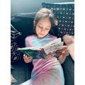 Layla-Grace reading a story