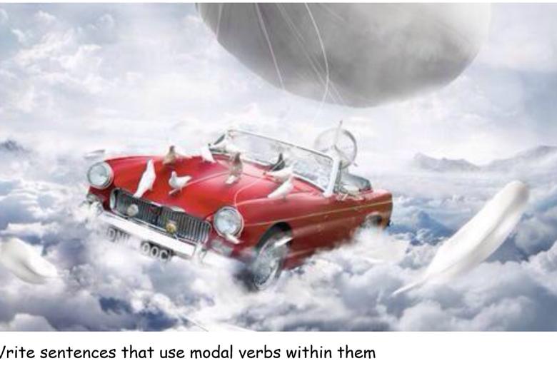 Children to write sentences using modal verbs