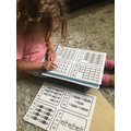Sophie's brilliant counting and numeral matching